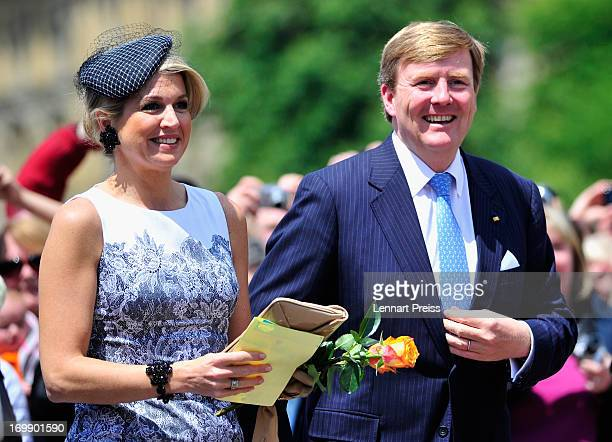 King WillemAlexander of The Netherlands and Queen Maxima of The Netherlands look on during a visit in BadenWuerttemberg on June 4 2013 in Stuttgart...