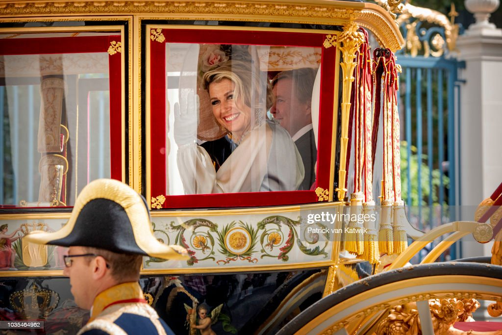 Dutch Royal family Attends The Parliamental Year Prinsjesdag Opening In The Hague : Nieuwsfoto's