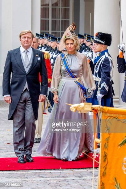 King WillemAlexander of The Netherlands and Queen Maxima of The Netherlands of The Netherlands at Palace Noordeine for the annual opening of the...