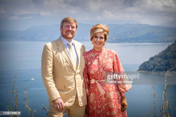 King WillemAlexander of The Netherlands and Queen Maxima of The Netherlands visit Tobalake on March 12 2020 in Tobalake Indonesia Central in the...