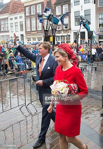 King WillemAlexander of The Netherlands and Queen Maxima of The Netherlands visit Zierikzee on June 21 2013 in Middelburg Netherlands
