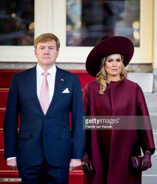 King Willem-Alexander of The Netherlands and Queen Maxima of the Netherlands welcome Alexander van der Bellen President of Austria and his wife Doris...