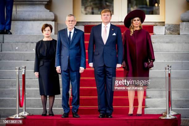 King WillemAlexander of The Netherlands and Queen Maxima of the Netherlands welcome Alexander van der Bellen President of Austria and his wife Doris...