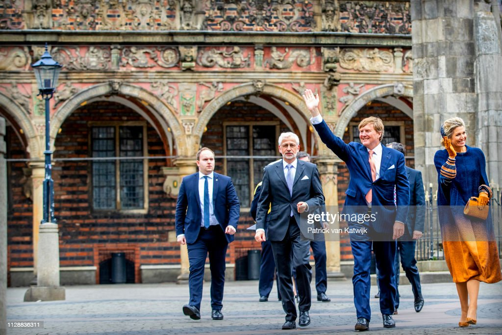 King Willem-Alexander and Queen Maxima Of The Netherlands Visit Bremen, Germany : Foto di attualità