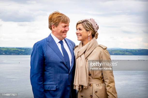King Willem-Alexander of The Netherlands and Queen Maxima of The Netherlands visit Camden Fort Meagher on June 14, 2019 in Crosshaven, Ireland.