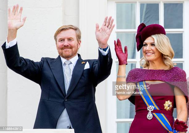 King Willem-Alexander of The Netherlands and Queen Maxima of The Netherlands during Prinsjesdag, the opening of the parliamentary year, on September...