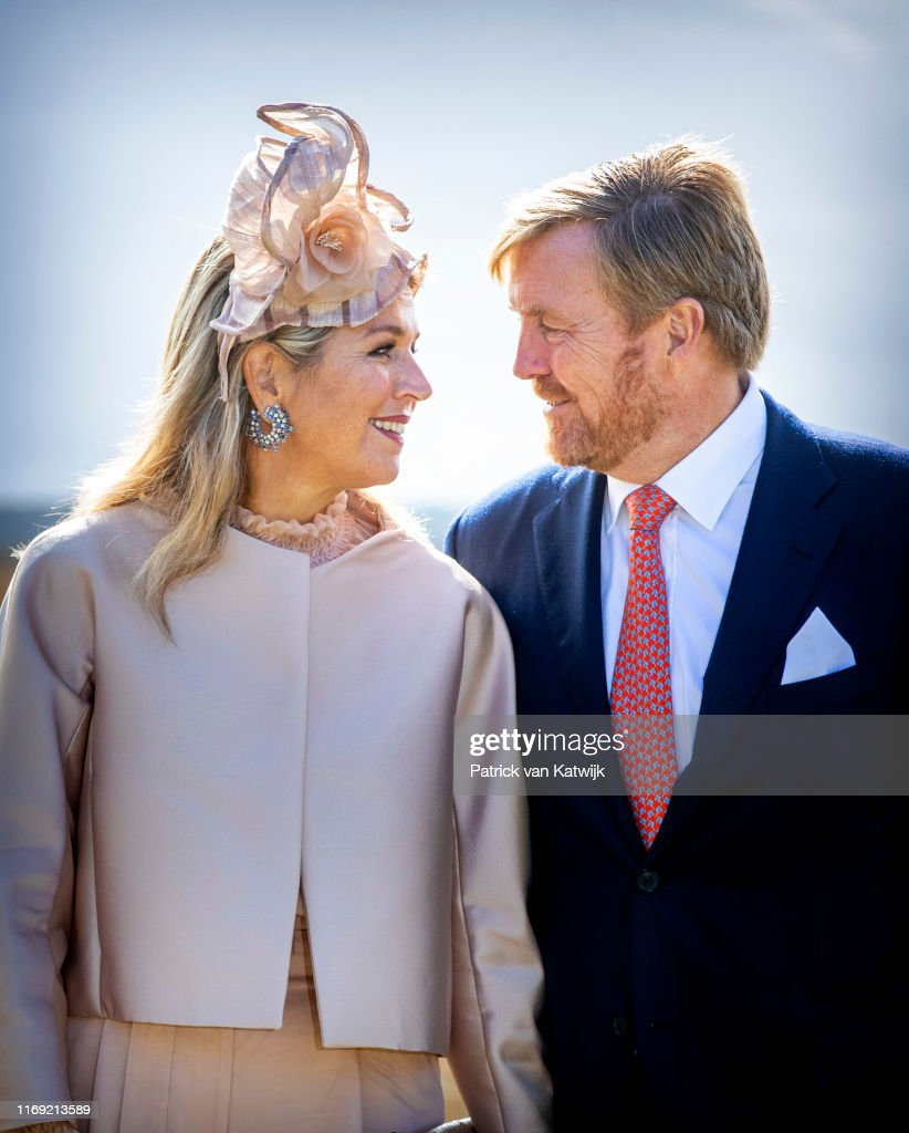 King Willem-Alexander Of The Netherlands and Queen Maxima Of The Netherlands Visit Drenthe Province : News Photo