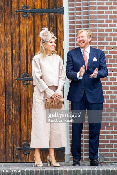 King Willem-Alexander of The Netherlands and Queen Maxima of The Netherlands attend their region visit to South-West Drenthe on September 18, 2019 in...