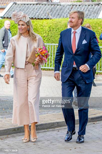 King Willem-Alexander of The Netherlands and Queen Maxima of The Netherlands during their region visit to South-West Drenthe on September 18, 2019 in...