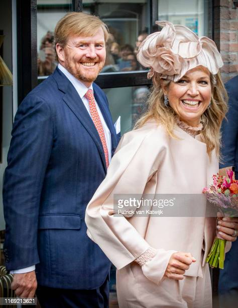 King Willem-Alexander of The Netherlands and Queen Maxima of The Netherlands attends their region visit to South-West Drenthe on September 18, 2019...
