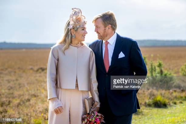 King WillemAlexander of The Netherlands and Queen Maxima of The Netherlands during their region visit to SouthWest Drenthe on September 18 2019 in...