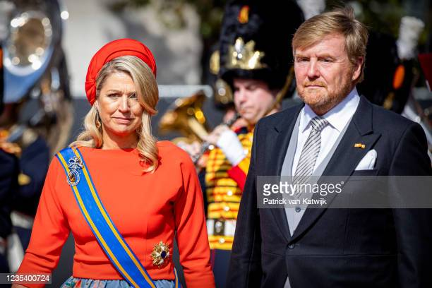 King Willem-Alexander of The Netherlands and Queen Maxima of The Netherlands attends Prinsjesdag, the annual opening of the parliamentary year, in...