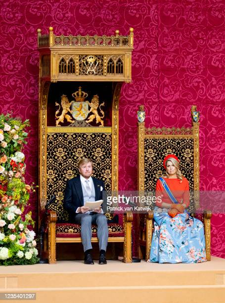 King Willem-Alexander of The Netherlands and Queen Maxima of The Netherlands attends Prinsjesdag the annual opening of the parliamentary year in the...