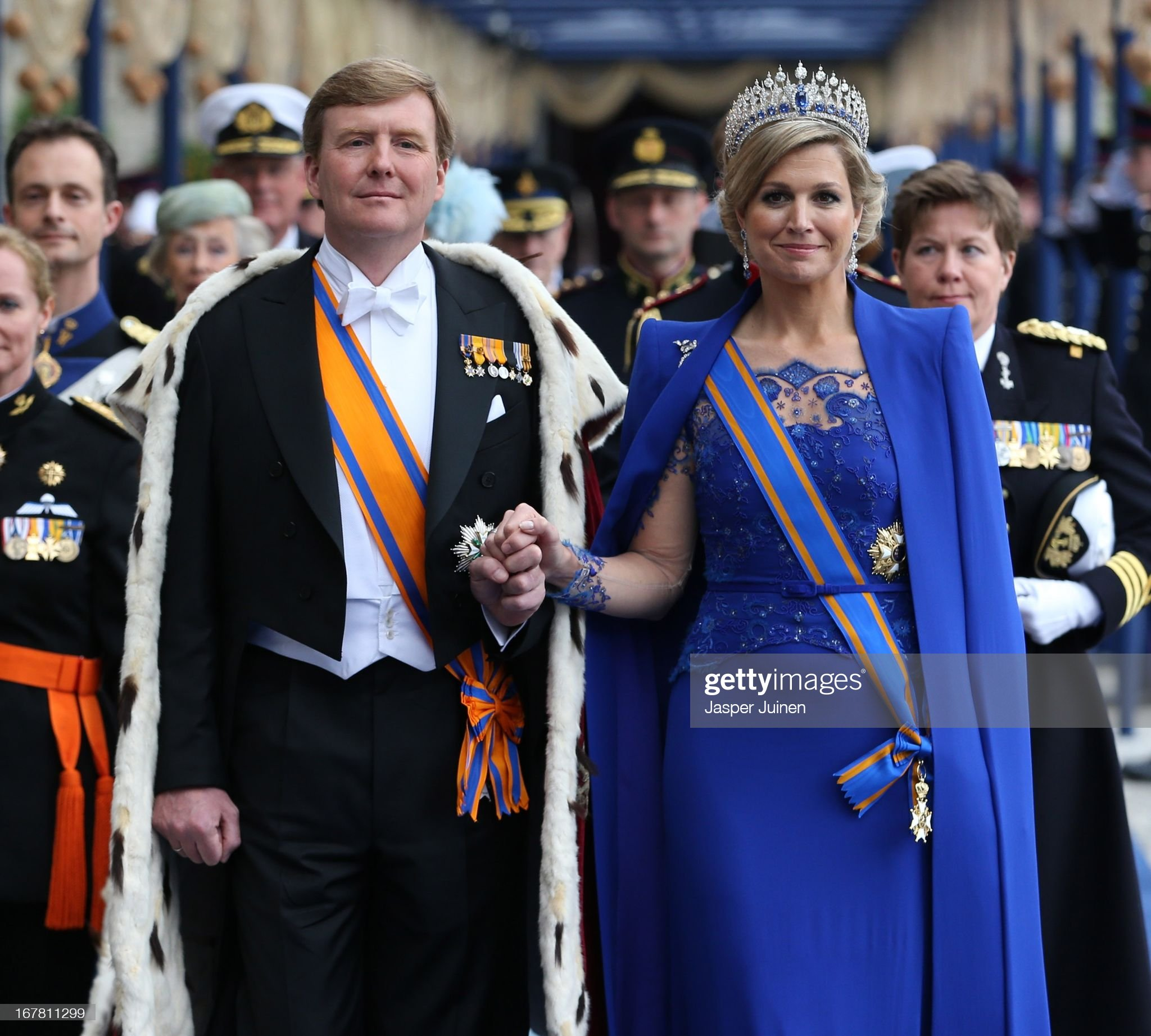 Inauguration Of King Willem Alexander As Queen Beatrix Of The Netherlands Abdicates : News Photo