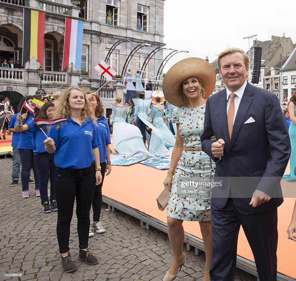 King Willem-Alexander of The Netherlands and Queen Maxima of The Netherlands attend celebrations marking the 200th anniversary of the kingdom of The Netherlandson August 30, 2014 in Maastricht, The Netherlands.