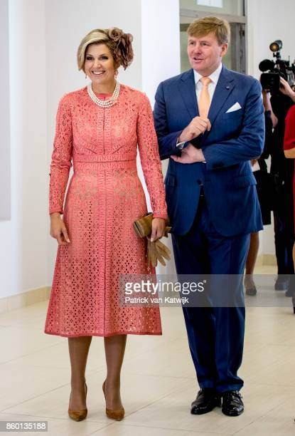 King WillemAlexander of The Netherlands and Queen Maxima of The Netherlands visit Champalimaud Centre on October 11 2017 in Lisboa CDP Portugal...