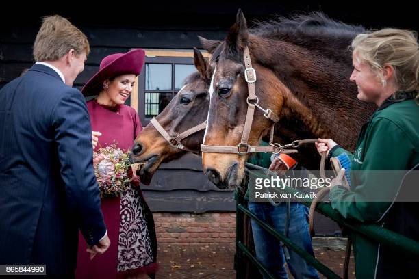 King WillemAlexander of The Netherlands and Queen Maxima of The Netherlands visit farm Het Gagelgat during their region visit to Eemnland on October...