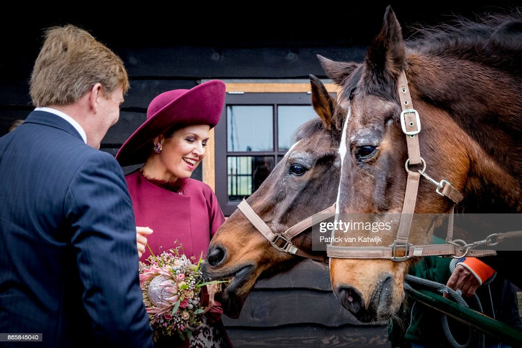 King Willem-Alexander of The Netherlands and Queen Maxima of The Netherlands visit farm Het Gagelgat during their region visit to Eemnland on October 24, 2017 in Soest, Netherlands.