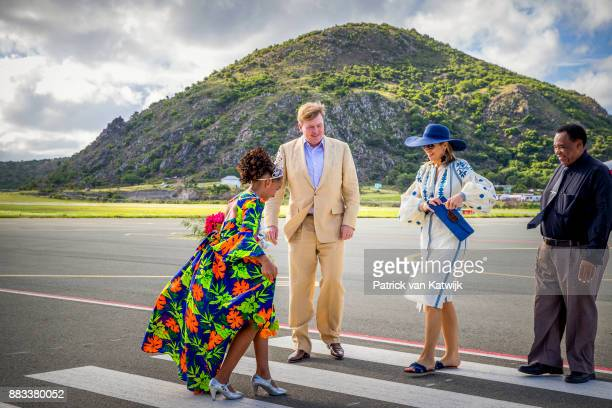 King Willem-Alexander of The Netherlands and Queen Maxima of The Netherlands visit Solar Park and the reconstruction of houses on November 30, 2017...