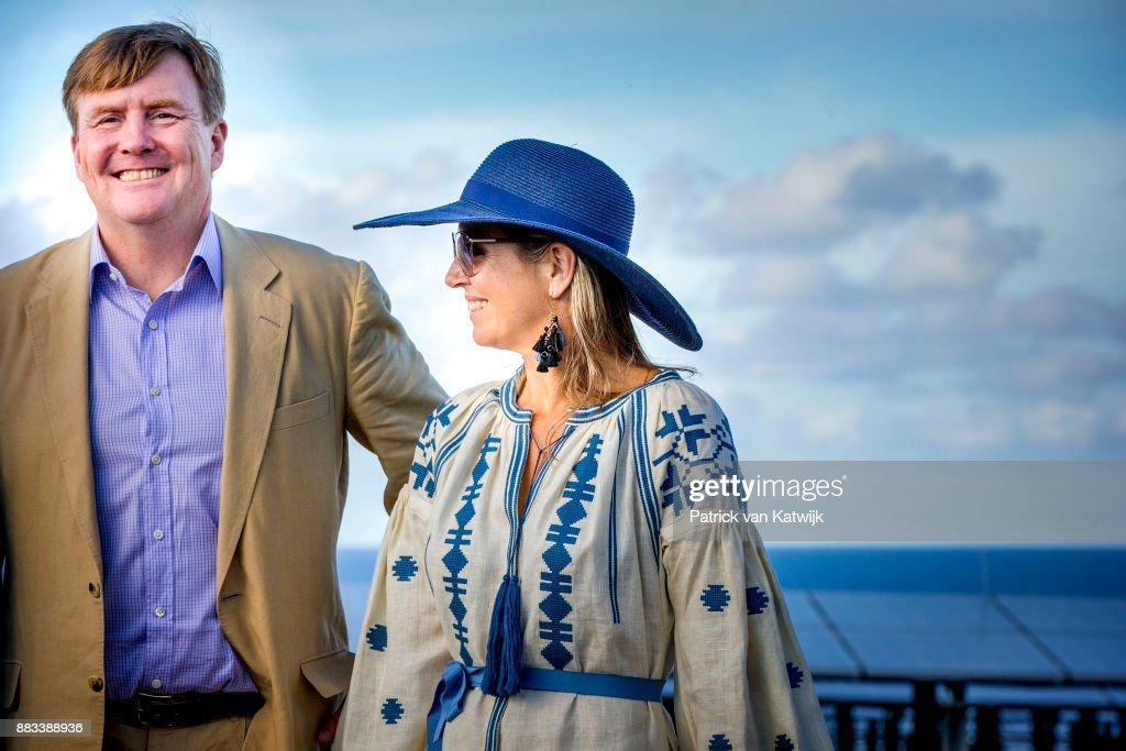 King Willem-Alexander and Queen Maxima visit St Eustatius : News Photo