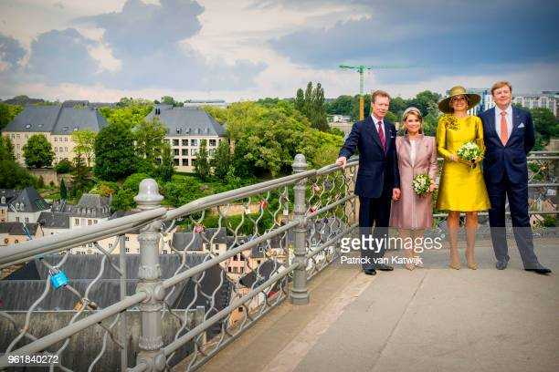 King WillemAlexander of The Netherlands and Queen Maxima of The Netherlands Grand Duke Henri of Luxembourg and Grand Duchess Maria Teresa of...