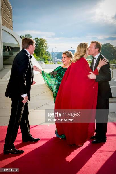 King WillemAlexander of The Netherlands and Queen Maxima of The Netherlands welcome Grand Duke Henri of Luxembourg and Grand Duchess Maria Teresa of...