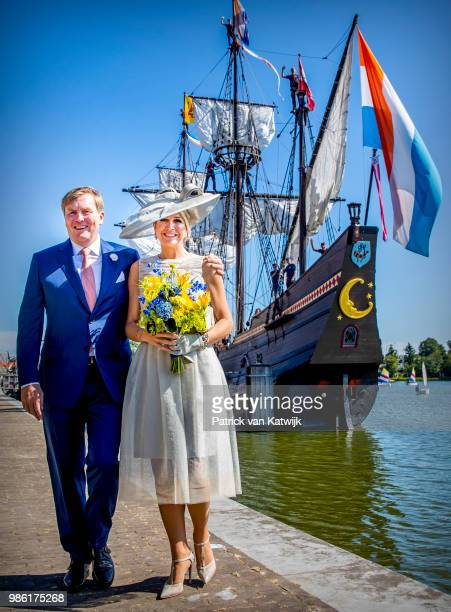 King WillemAlexander of The Netherlands and Queen Maxima of The Netherlands during their region visit to WestFriesland on June 28 2018 in Hoorn...