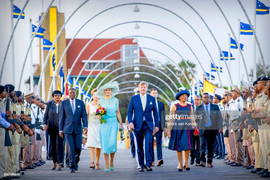 King Willem-Alexander Of The Netherlands and Queen Maxima Netherlands Visit Curacao : Nieuwsfoto's