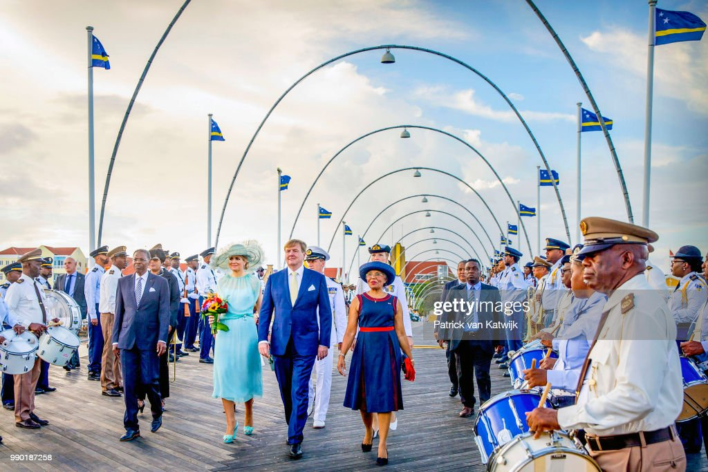 King Willem-Alexander of The Netherlands and Queen Maxima of The Netherlands visits Curacao during the Dia di Bandera celebrations on July 2, 2018 in Willemstad, Curacao.