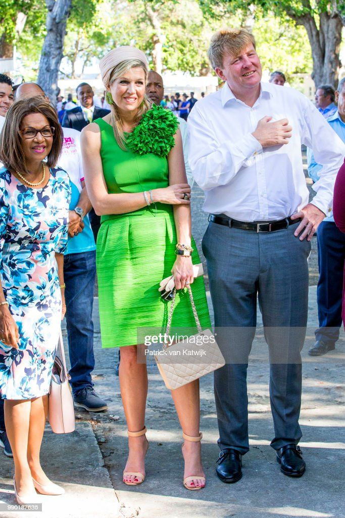King Willem-Alexander Of The Netherlands and Queen Maxima Netherlands Visit Curacao
