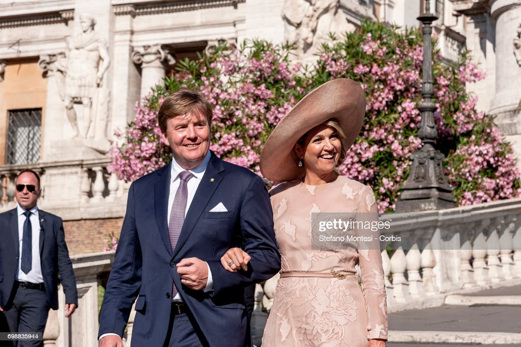 King and Queen of the Netherlands visit Italy : Day One. : News Photo