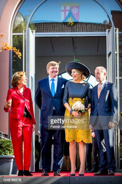 King Willem-Alexander of the Netherlands and Queen Maxima of The Netherlands visit the State Chancellery Prime Minister Malu Dreyer and her husband...