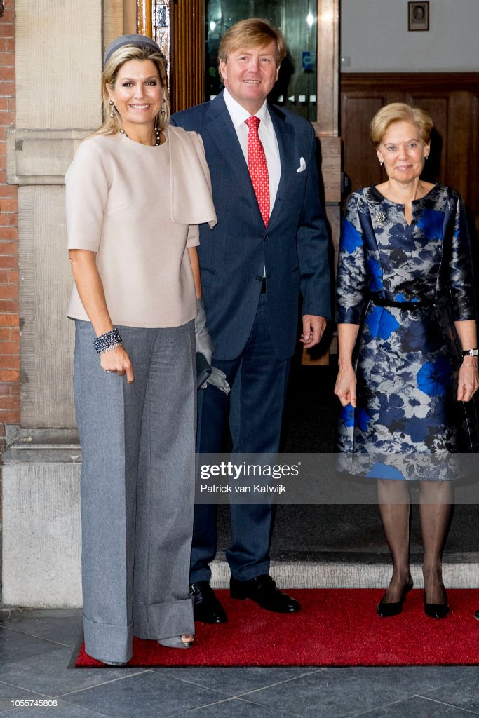 King Willem Alexander Of The Netherlands And Queen Maxima Of The Netherlands Visit Council Of State : News Photo
