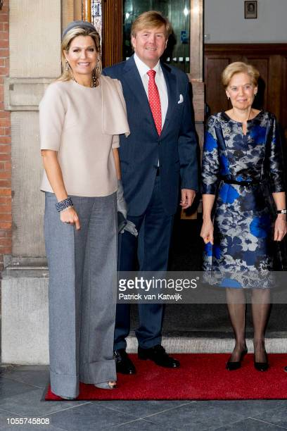 King WillemAlexander of The Netherlands and Queen Maxima of The Netherlands visits the Council of State for farewell reception of vicepresident Piet...