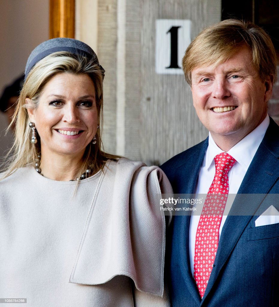 King Willem Alexander Of The Netherlands And Queen Maxima Of The Netherlands Visit Council Of State : Nieuwsfoto's