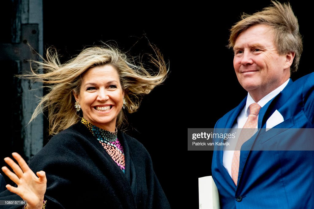 Dutch Royal Family Attends New Year Reception At Royal Palace In Amsterdam : Nieuwsfoto's