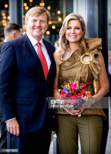 King Willem-Alexander of The Netherlands and Queen Maxima of The Netherlands attend the annual Holland Festival in Theater Amsterdam on May 29, 2019...