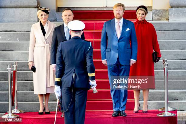 King Willem-Alexander of The Netherlands and Queen Maxima of The Netherlands welcomes the President of Poland Andrzej Duda and his wife Agata...