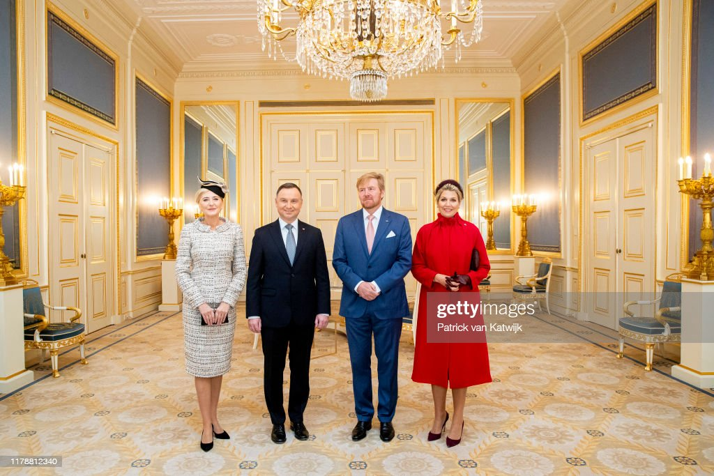 King Willem-Alexander and Queen Maxima receive President of Poland for an official visit in The Hague : Fotografia de notícias