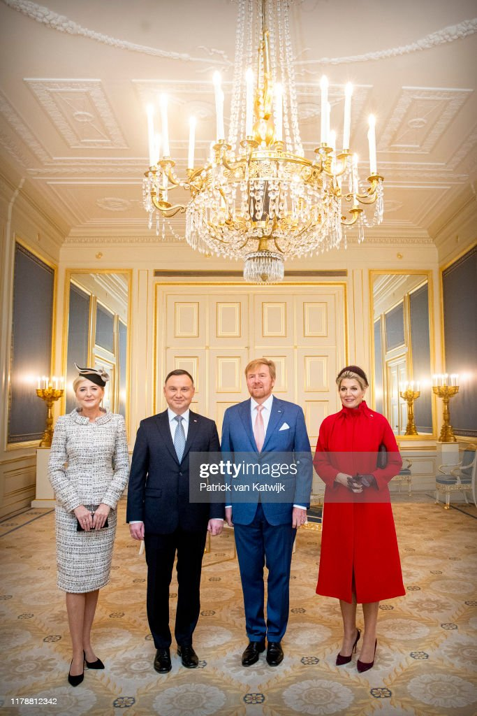 King Willem-Alexander and Queen Maxima receive President of Poland for an official visit in The Hague : Nieuwsfoto's
