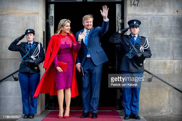 King WillemAlexander of The Netherlands and Queen Maxima of The Netherlands attend the Prince Claus Award ceremony in the Royal Palace on December 4...