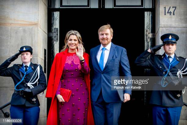 King Willem-Alexander of The Netherlands and Queen Maxima of The Netherlands attend the Prince Claus Award ceremony in the Royal Palace on December...