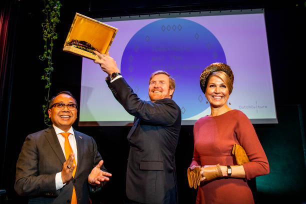 "NLD: King Willem-Alexander Of The Netherlands & Queen Maxima Attend a Seminar ""Indonesia And The Netherlands: A Joint future"""