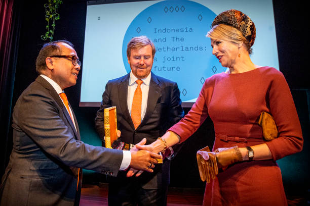 """NLD: King Willem-Alexander Of The Netherlands & Queen Maxima Attend a Seminar """"Indonesia And The Netherlands: A Joint future"""""""