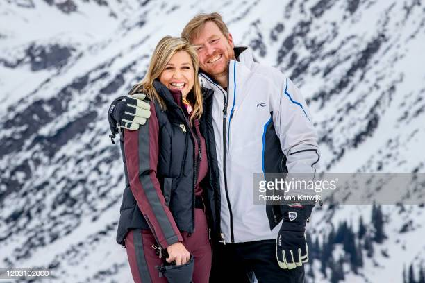 King WillemAlexander of The Netherlands and Queen Maxima of The Netherlands during the annual photo call on February 25 2020 in Lech Austria