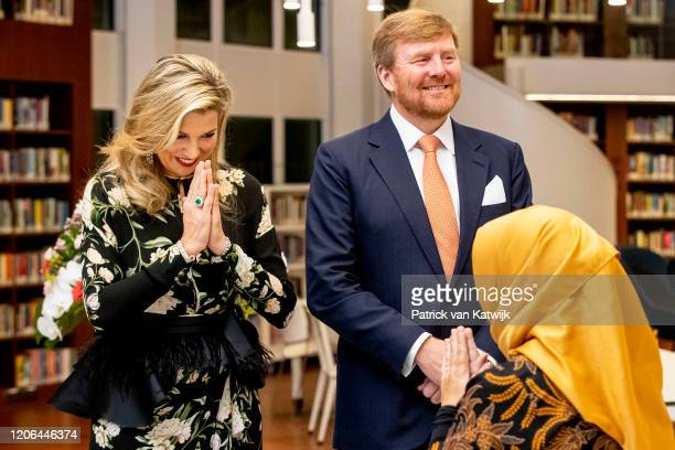 King WillemAlexander of The Netherlands and Queen Maxima of The Netherlands during the meeting with the Dutch Society and the opening of the Photo...