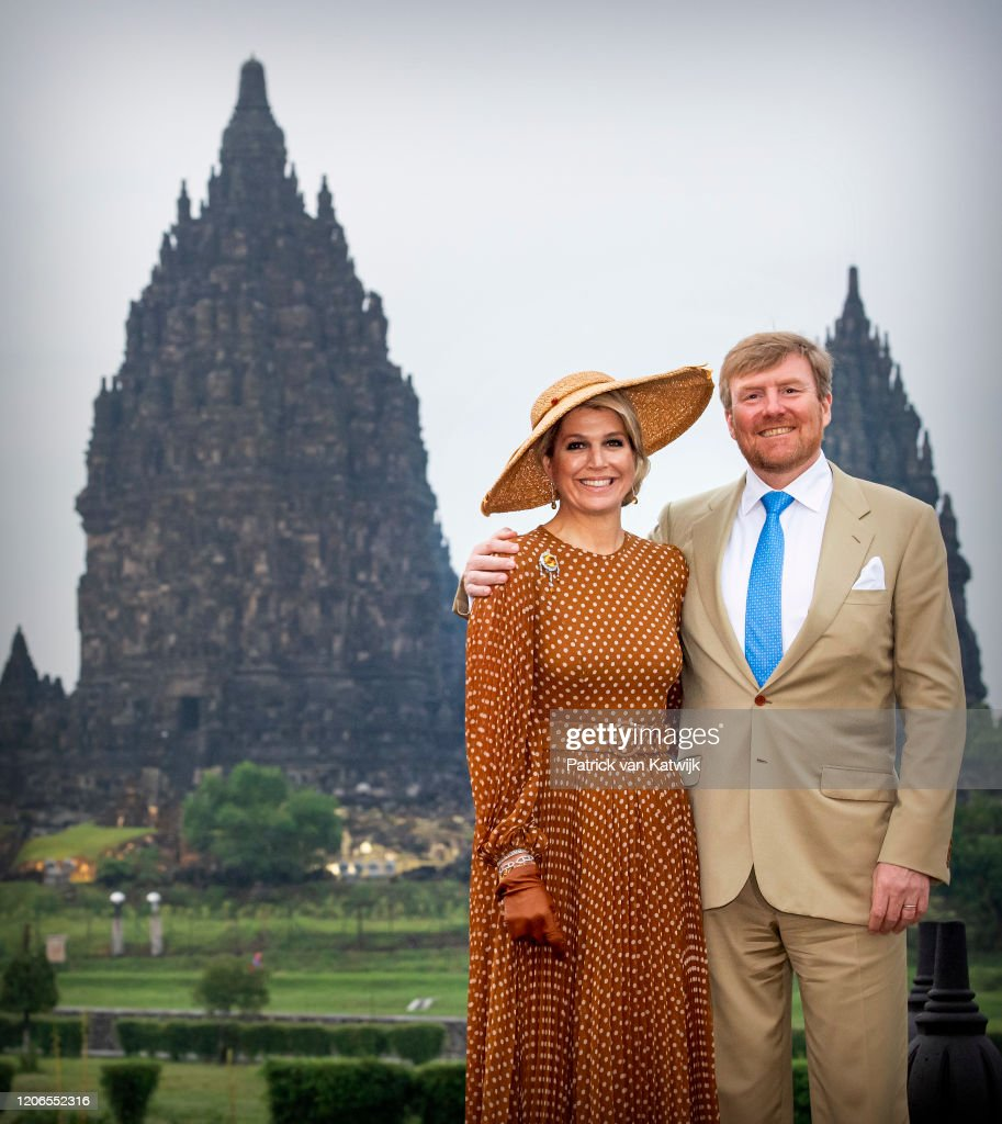 King Willem-Alexander Of The Netherlands And Queen Maxima : State Visit To Indonesia : Day Two : News Photo