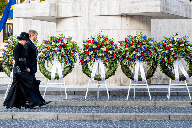 NLD: King Willem-Alexander Of The Netherlands And Queen Maxima Attend The Remembrance Day In Amsterdam