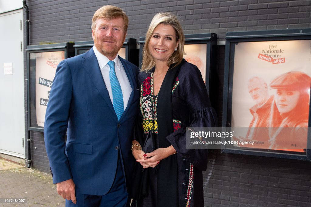 King Willem-Alexander And Queen Maxima Visit National Theater In The Hague : News Photo