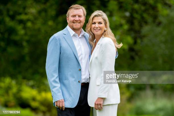 King Willem-Alexander of The Netherlands and Queen Maxima of The Netherlands during the annual summer photocall at their residence Palace Huis ten...